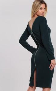 Czarna sukienka Renee ołówkowa z długim rękawem
