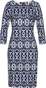 Sukienka bonprix bpc selection z okrągłym dekoltem midi w stylu casual