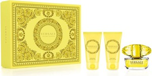 Versace, Yellow Diamond, zestaw: woda toaletowa, spray, 50 ml + balsam do ciała, 50 ml + żel pod prysznic, 50 ml