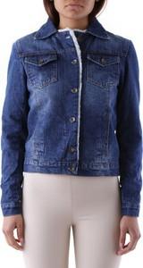 Granatowa kurtka Cristina Gavioli krótka z jeansu