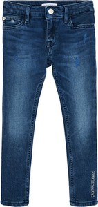 Granatowe jeansy dziecięce Calvin Klein
