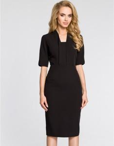 Czarna sukienka MOE midi ołówkowa