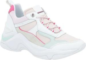 Buty sportowe Tommy Hilfiger ze skóry z płaską podeszwą