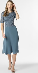 Niebieska sukienka Vera Mont Collection z szyfonu midi