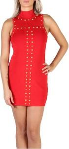 Czerwona sukienka Guess dopasowana mini z golfem