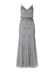 Sukienka Lace & Beads z dekoltem w kształcie litery v na ramiączkach