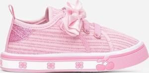Różowe trampki dziecięce born2be sznurowane