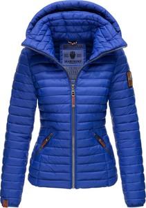 Niebieska kurtka Marikoo krótka w stylu casual