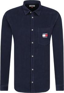 Granatowa koszula Tommy Jeans z długim rękawem