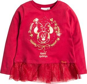 Różowa bluzka dziecięca Cool Club z tiulu z długim rękawem