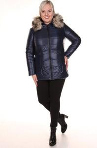 Granatowa kurtka Fokus w stylu casual