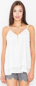 Bluzka Figl z tkaniny z dekoltem w kształcie litery v