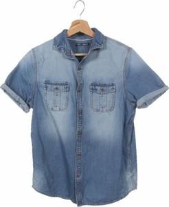 Granatowa koszula dziecięca Next z jeansu