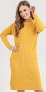 Żółta sukienka born2be mini