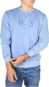 Niebieska bluza Hackett z bawełny w młodzieżowym stylu