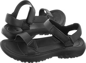 Czarne sandały Teva na rzepy w stylu casual