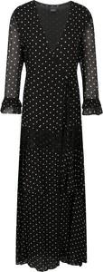 Sukienka Pinko z długim rękawem z dekoltem w kształcie litery v