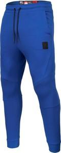 Niebieskie spodnie sportowe Pit Bull z bawełny
