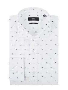 Koszula Hugo Boss w młodzieżowym stylu z bawełny z klasycznym kołnierzykiem