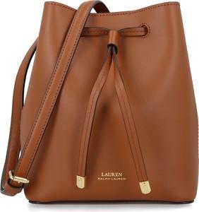 Brązowa torebka Ralph Lauren duża ze skóry