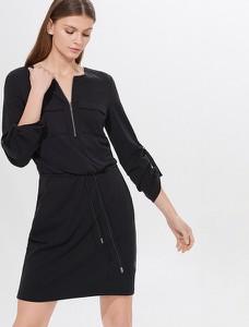 Sukienka Mohito mini prosta z długim rękawem