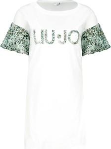Sukienka Liu-Jo z okrągłym dekoltem z krótkim rękawem