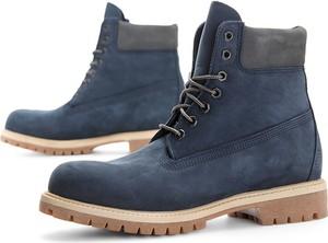 Niebieskie buty zimowe Timberland z nubuku