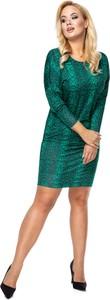 Sukienka Ptakmoda.com dopasowana z długim rękawem