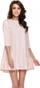 Różowa sukienka Ohh La La z długim rękawem