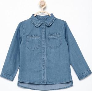 Niebieska koszula dziecięca Reserved dla dziewczynek z bawełny