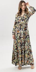 Sukienka born2be w stylu boho z długim rękawem