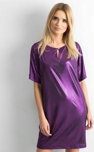 Fioletowa sukienka Sheandher.pl w stylu casual mini