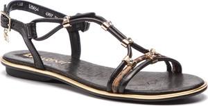 Sandały Carinii z klamrami ze skóry