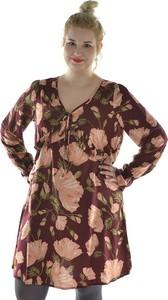Sukienka Junarose w stylu casual z dekoltem w kształcie litery v mini