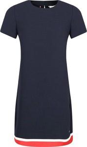 Granatowa sukienka Tommy Hilfiger z krótkim rękawem w stylu casual mini