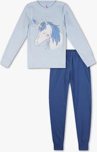 Niebieska piżama Here And There z bawełny dla chłopców