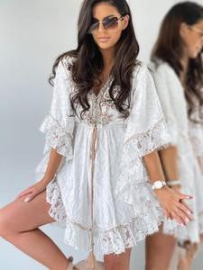 Sukienka Versada mini z bawełny z długim rękawem