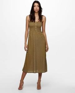 Sukienka Only z dekoltem w kształcie litery v midi na ramiączkach
