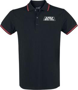 Czarna koszulka polo Emp w młodzieżowym stylu
