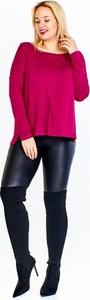 Różowa bluzka Amadeo w stylu casual