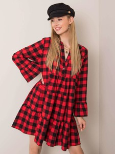 Sukienka Sheandher.pl z długim rękawem mini z bawełny