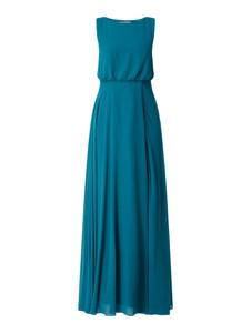 Niebieska sukienka Christian Berg Cocktail z szyfonu z okrągłym dekoltem bez rękawów