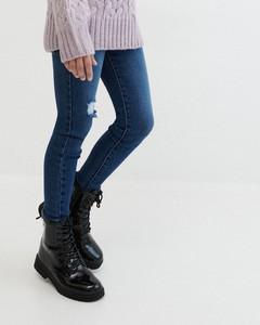 Granatowe jeansy Reserved w stylu casual