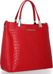 Czerwona torebka VITTORIA GOTTI ze skóry w stylu glamour