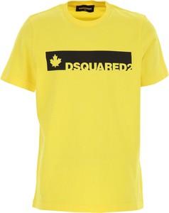 Żółta koszulka dziecięca Dsquared2