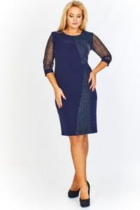 Granatowa sukienka BOG-MAR midi