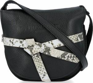 Czarna torebka VITTORIA GOTTI w młodzieżowym stylu ze skóry z kokardką