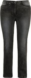 Czarne jeansy Ulla Popken z jeansu