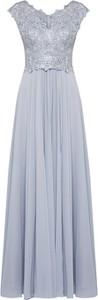 Niebieska sukienka Luxuar rozkloszowana