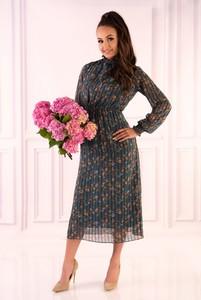 Sukienka MERRIBEL midi z długim rękawem